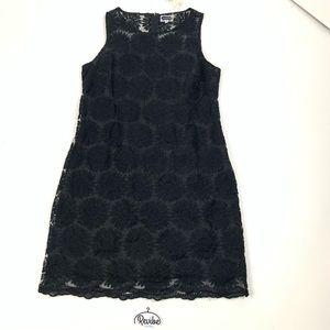 Mud Pie Black Lace Floral Sleeveless Dress F3738